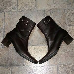Coach Irina brown leather heeled boots booties